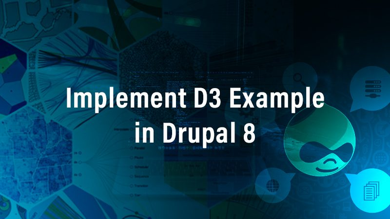 Implement D3 Example in Drupal 8