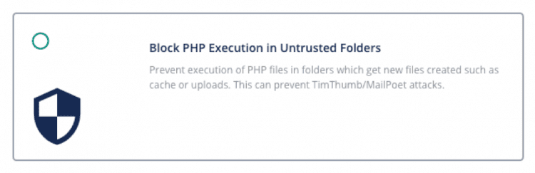 Prevent PHP Execution